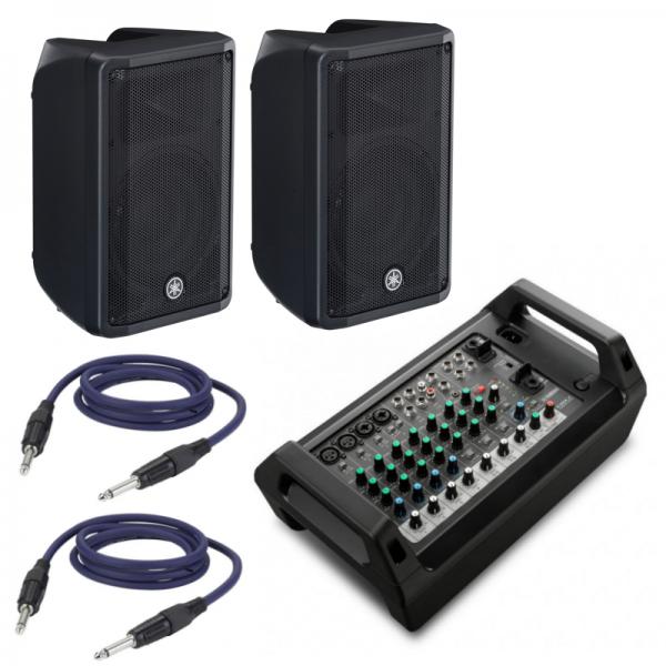 Mixer Amplificato Yamaha EMX 2 + Coppia Speaker e Cavi