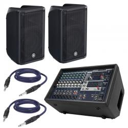 Mixer Amplificato Yamaha EMX 212S + Coppia Speaker e Cavi
